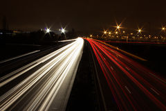 Nachtweg Royalty-vrije Stock Foto's