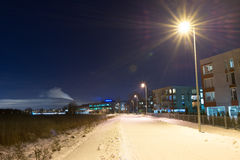 Nachtweg stock fotografie