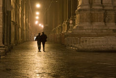Nachtweg Lizenzfreie Stockfotos
