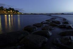 Nachtweg van steen Stock Foto's