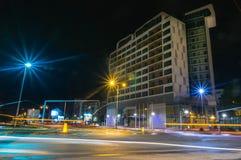 Nachtwegen stock fotografie