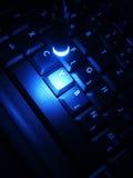 Nachtwerk op laptop royalty-vrije stock afbeeldingen