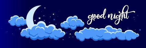 Nachtwolkenillustration 2 Stockbilder