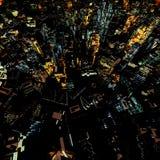 Nachtwolkenkrabbers Royalty-vrije Stock Afbeeldingen