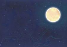 Nachtzeit Stockbild