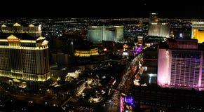 Nachtzeit auf dem Las Vegas-Streifen lizenzfreies stockfoto