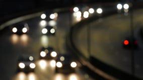 Nachtzeit in der Stadt stock video