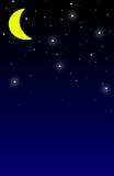 Nachtzeit-Hintergrund Lizenzfreie Stockbilder
