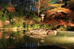 Nachtzeit im Herbst Shoren-in am Tempel Stockbilder