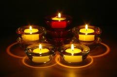 Nachtzeit-Kerzen Lizenzfreie Stockfotos