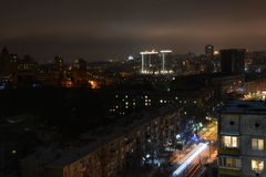 Nachtzeit Kiew Stockfoto