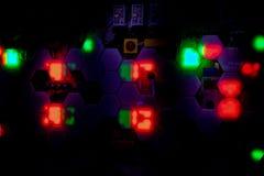 Nachtzeit-Lichter in Las Vegas stockbilder