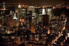 Nachtzeit in NY Stockfoto