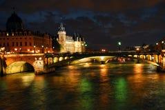 Nachtzeit Paris Lizenzfreies Stockbild