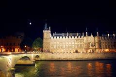 Nachtzeit Paris lizenzfreies stockfoto