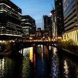 Nachtzeit-Stadt Stockfotografie