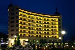 Nachtzeithotel Lizenzfreie Stockfotos