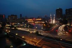 Nachtzeitstadt Stockfotografie