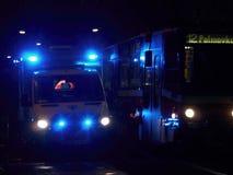 Nachtziekenwagen Stock Foto's
