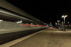 Nachtzug Stockbild