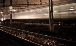 Nachtzug ausdrücklich Stockfotografie