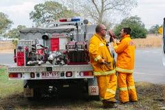 Nachwirkungen der Epping-Bushfires Stockbild