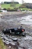 Nachwirkungen des Autounfalls Lizenzfreies Stockbild