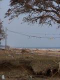 Nachwirkungen von Katrina stockbild