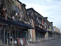 Nachwirkungen von sechs Warnung Dallas Fire Stockfotos