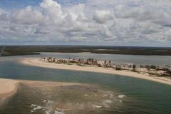 Nachwirkungs-Wirbelsturm Idai und Wirbelsturm Kenneth in Mosambik und in Simbabwe lizenzfreies stockbild