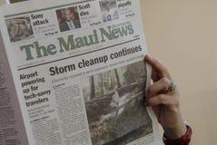Nachwirkungswochenende storn auf Maui Islanad Hawaii USA Lizenzfreies Stockfoto