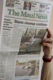 Nachwirkungswochenende storn auf Maui Islanad Hawaii USA Stockbilder