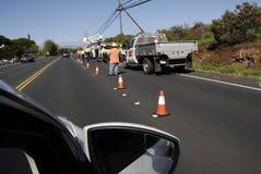Nachwirkungswochenende storn auf Maui Islanad Hawaii USA Stockbild