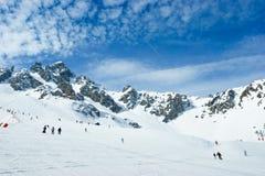 nachylenie narciarski obraz royalty free