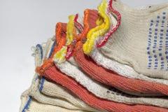 Naciągowy wierzchołek ochronne bawełniane rękawiczki ustawiać zdjęcia stock