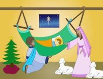 Nacimiento de Jesús Imagen de archivo libre de regalías