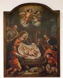 Nacimiento de Jesús, adoración de los pastores Fotos de archivo libres de regalías