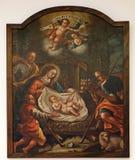 Nacimiento de Jesús, adoración de los pastores Imagenes de archivo