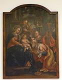 Nacimiento de Jesús, adoración de unos de los reyes magos Imagenes de archivo
