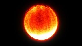 Nacimiento de la estrella de la supernova Las partículas brillantes forman en esfera brillante libre illustration