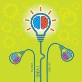 Nacimiento de la idea Fondo del concepto Imagen de archivo