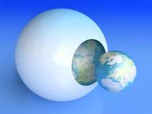 Nacimiento del planeta azul Foto de archivo