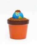 Nacimiento y desarrollo de la tierra del planeta. Fotografía de archivo