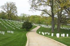 Nacional Cemete de Arlington do trajeto Fotografia de Stock Royalty Free
