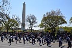 2016 nacional Cherry Blossom Parade en Washington DC Foto de archivo libre de regalías