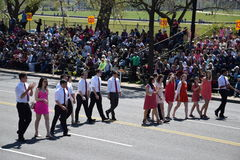 2016 nacional Cherry Blossom Parade en Washington DC Fotos de archivo libres de regalías