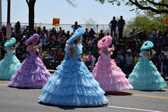 2016 nacional Cherry Blossom Parade no Washington DC Foto de Stock Royalty Free