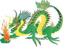 NACIONAL CHINO DEL DRAGÓN FIERN stock de ilustración