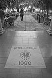 难倒历史旅馆的Nacional de古巴标志 免版税库存图片