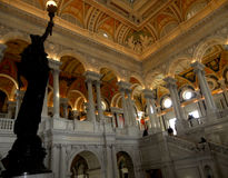 Nacional de Biblioteca del Congreso el interior de gran pasillo Imagen de archivo libre de regalías